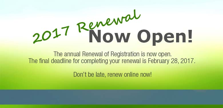 Online Renewal 2017