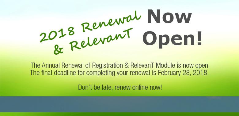 Online Renewal 2018