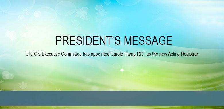 Acting Registrar Message